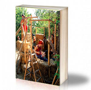 "Book Cover: ""Балерина"" - демонстрационна къща изградена със сламени бали"