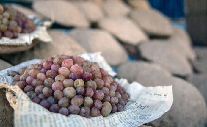 техника за запзване гроздето свежо