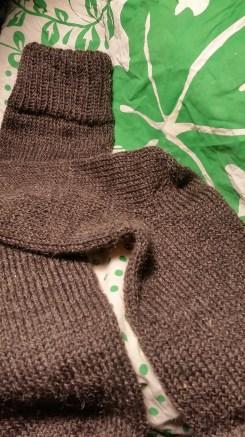 The heel made on the circular sock machine