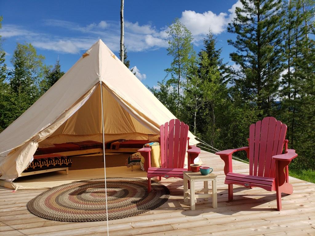 The Kootenay 5m canvas tent
