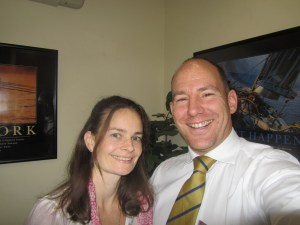 Image shows Chiropractor Dr James Revell with Nutritionist Michaela Jezzard