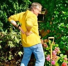 Image shows a man gardening and holding his lower back in pain, this accompanies the blog by Deborah Ben Shah on understanding your pain