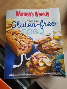 The picture shows the cover of the book 'Delicious gluten-free food'