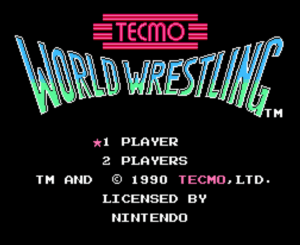 Tecmo World Wrestling: title screen