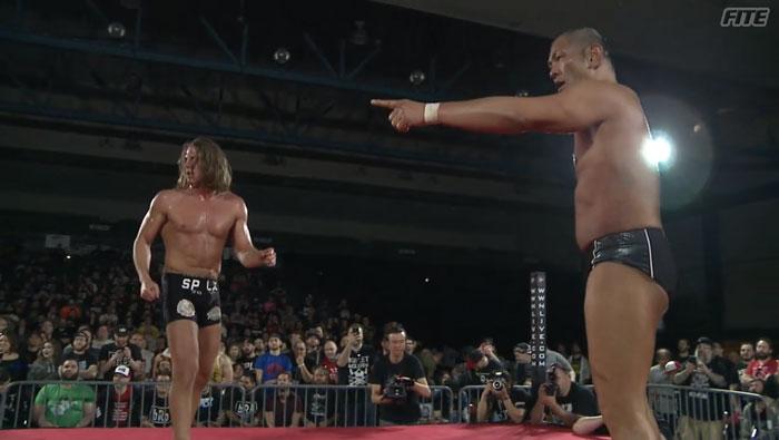 Risultati immagini per Matt Riddle vs Minoru Suzuki gcw
