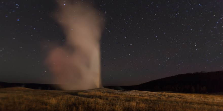Old Faithful at Night