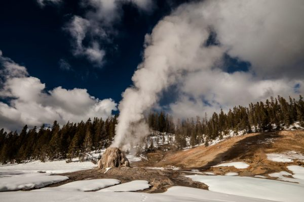 """The raw power of Lone Star Geyser emitting it's 40 foot blast of high pressured steam during the frozen winter months in Yellowstone is absolutely...Incredible! Order a Limited Edition Print of """"Incredible"""" here: http://www.backcountryjourneys.com/blog/2013/12/incredible"""