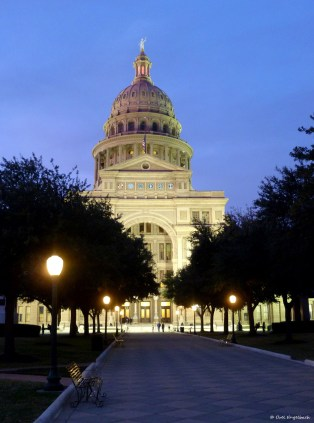 The capitol of Texas in Austin