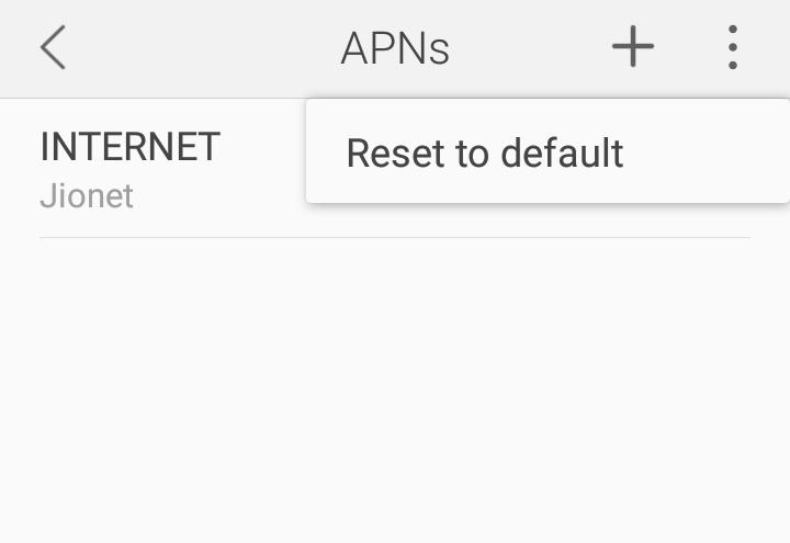 Reset APNs to increase net speed