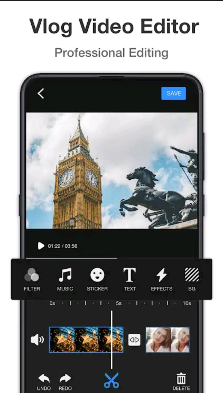 Video editor app for Android without watermark