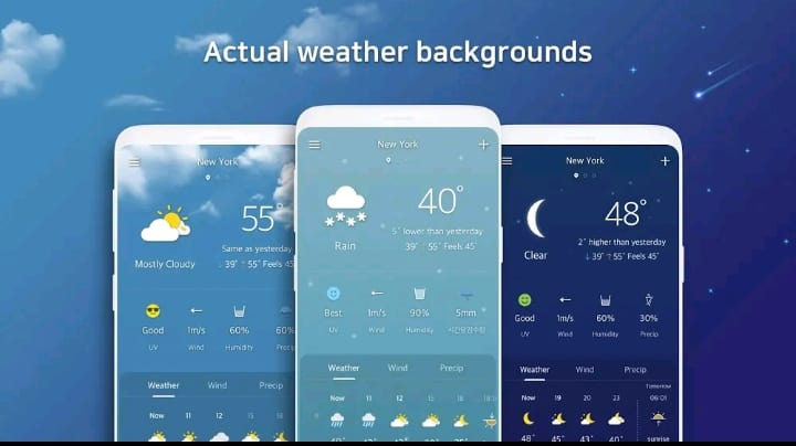 First forecast : Free weather app download