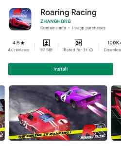 Roaring Racing game