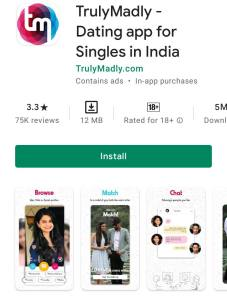 Truly Madly indian dating app