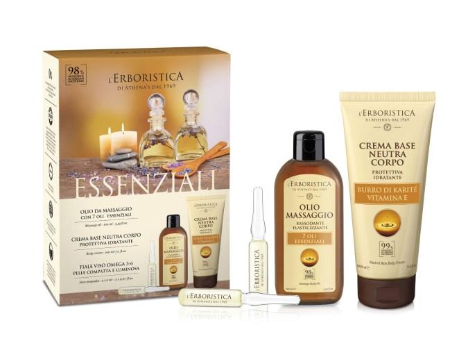 Erboristica Kosmetická sada olej krém sérum 4 ks