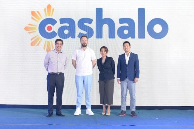 3) Cashalo executives Lance Gokongwei, Geoffrey Prentice, Hamilton Angluben with BSP representative Joyce Suficiencia (3rd)