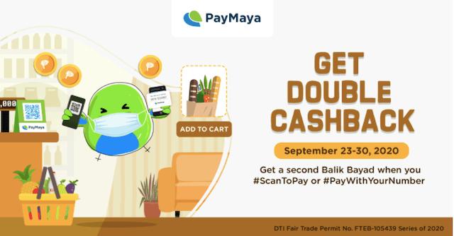 PayMaya Cashback Sept. 30