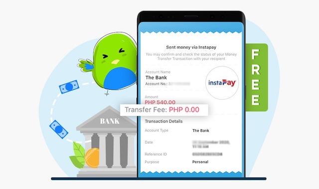 PayMaya InstaPay Fees