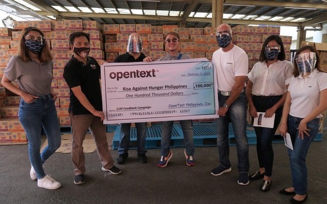 OpenText donation to Rise Against Hunger