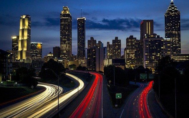 Skyline Night Buildings