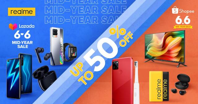 realme 6.6 Mid-Year Sale Lazada Shopee