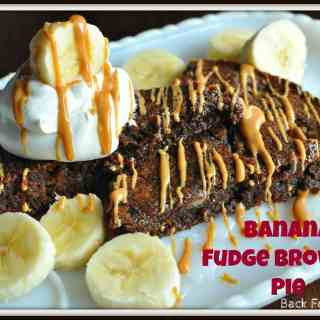 Banana Fudge Brownie Pie #peanutbutter #banana #fudge #brownie #pie