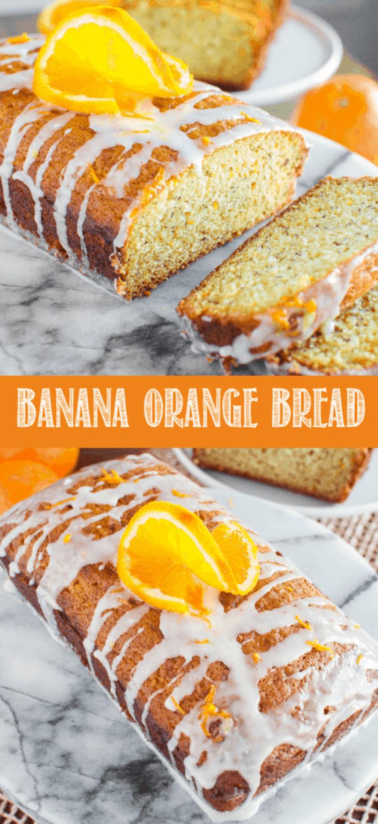 glazed banana orange bread