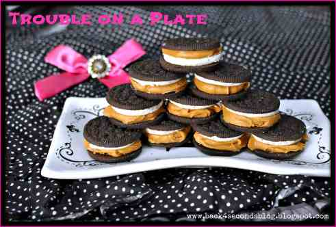 Trouble on a Plate by: Back For Seconds    #oreos #peanutbutter