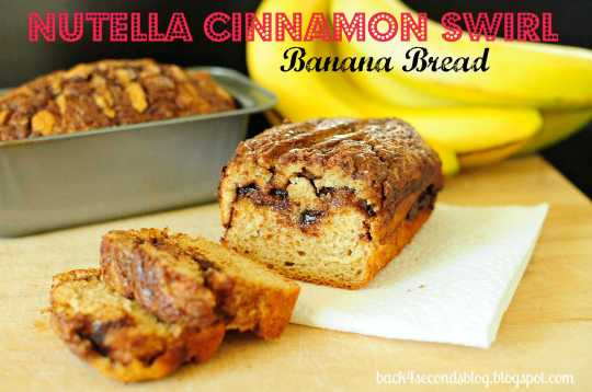 SKINNY Nutella Cinnamon Banana Swirl Bread @BackForSeconds #breakfast #bread #cinnamon #nutella #healthy