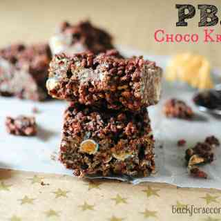 peanut butter and jelly chocolate rice krispie treats