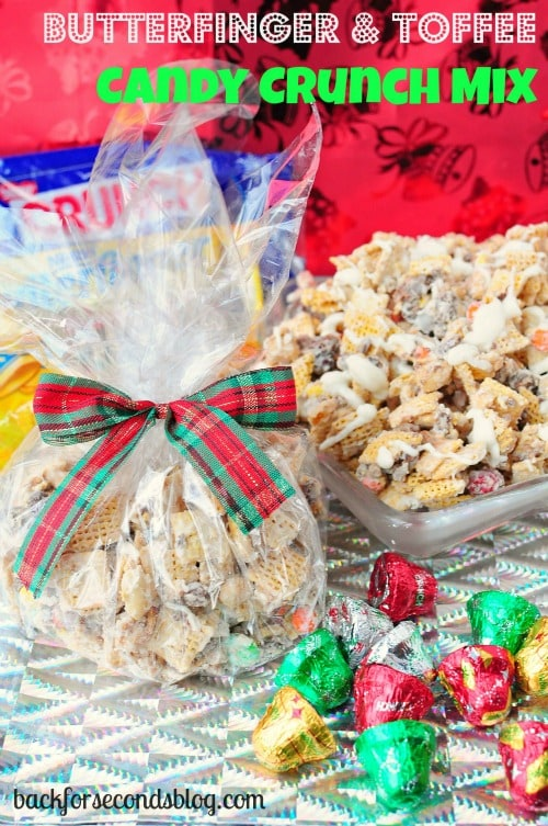 Butterfinger and Toffee Candy Crunch Mix by Back For Seconds