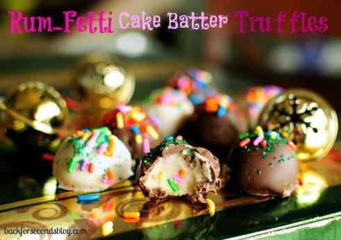 Rum-Fetti Cake Batter Truffles by Back For Seconds #truffles #cakebatter #rum