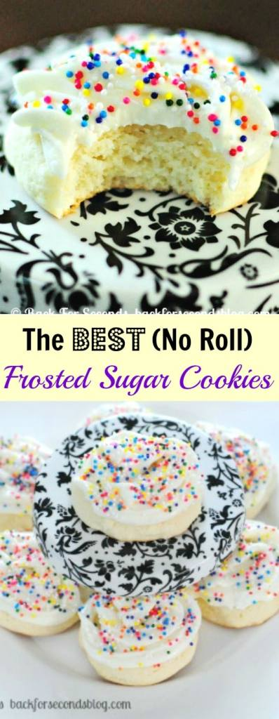 The Best Frosted Sugar Cookies - No Rolling Required!