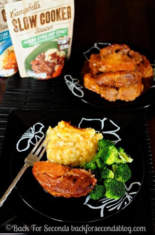 How to cook BBQ ribs in the crock pot https://backforseconds.com  #KoreanBBQ #CrockPot #CampbellsSkilledSaucers #ad