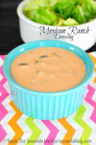 Easy Mexican Ranch Salad Dressing