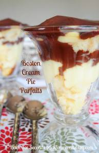 Boston Cream Pie Parfaits from Scratch