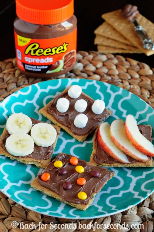 Easy Snack Ideas using Reese's Spreads