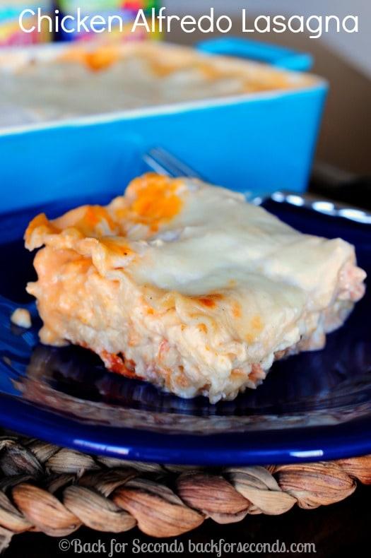 Quick and Easy Dinner - Chicken Alfredo Lasagna!  #NewTraDish