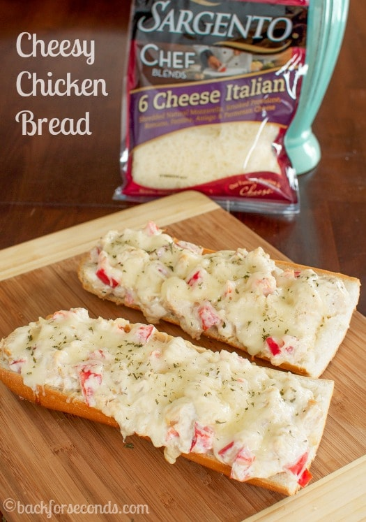 Creamy Cheesy Chicken Stuffed Bread