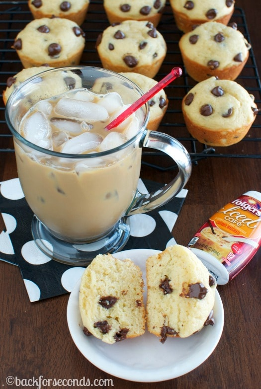 Easy Caramel Macchiato and the BEST  Chocolate Chip Muffins  #MyIcedCafe