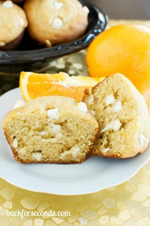 Easy Orange White Chocolate Creamsicle Muffins
