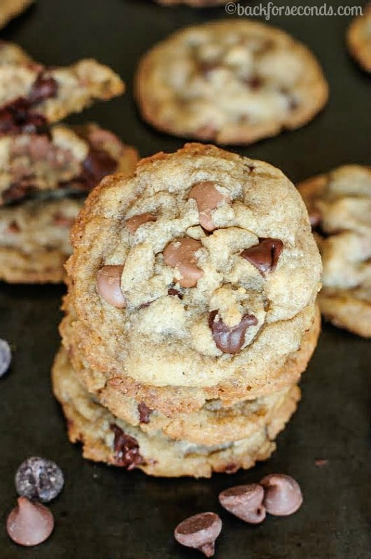 Hard Boiled Egg Chocolate Chip Cookies with Brown Butter - Crazy but seriously SCRUMPTIOUS!!
