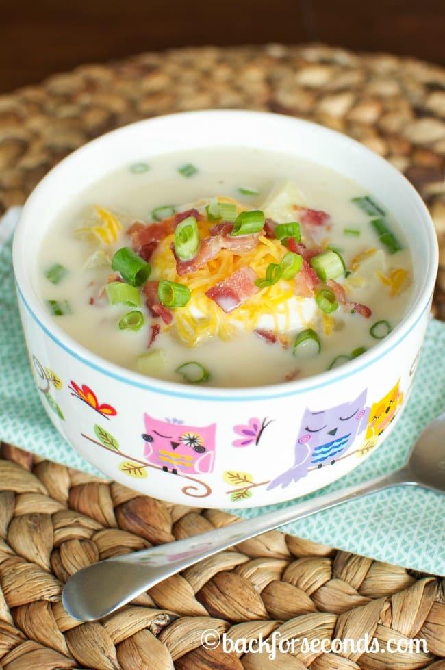 Cheesy Bacon Potato Soup