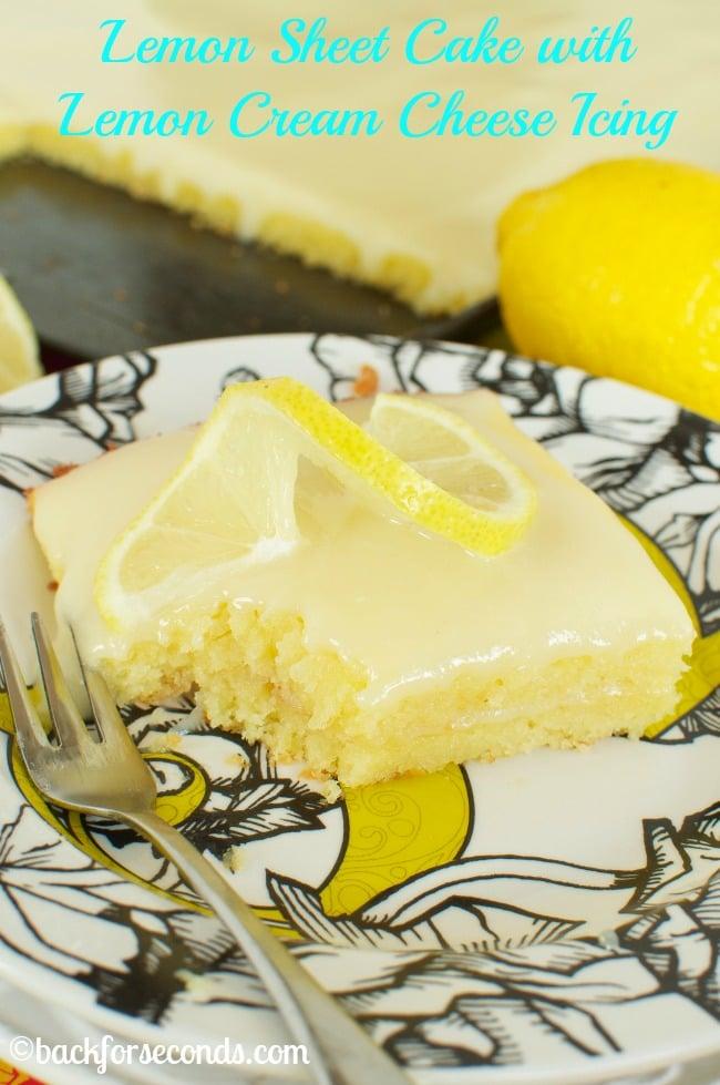 Homemade Lemon Sheet Cake - INCREDIBLE!!!