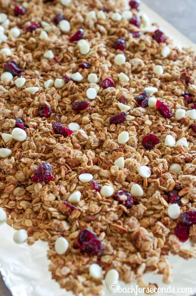 White Chocolate Cranberry Slow Cooker Granola Recipe