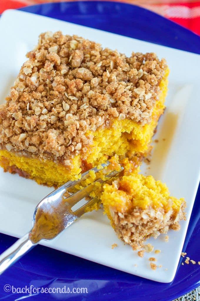 Easy Pumpkin Coffee Cake from Scratch