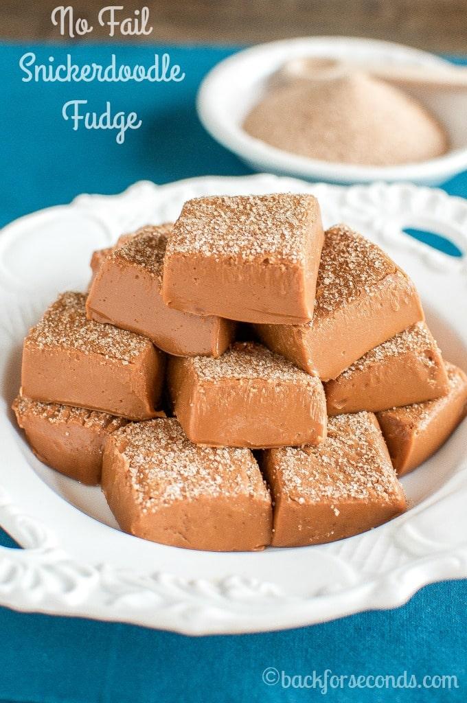 Cinnamon Snickerdoodle Fudge Recipe