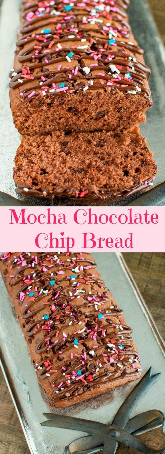 Valentine's Day Mocha Chocolate Chip Bread
