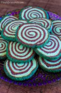 Mint Chocolate Sugar Cookie Pinwheels