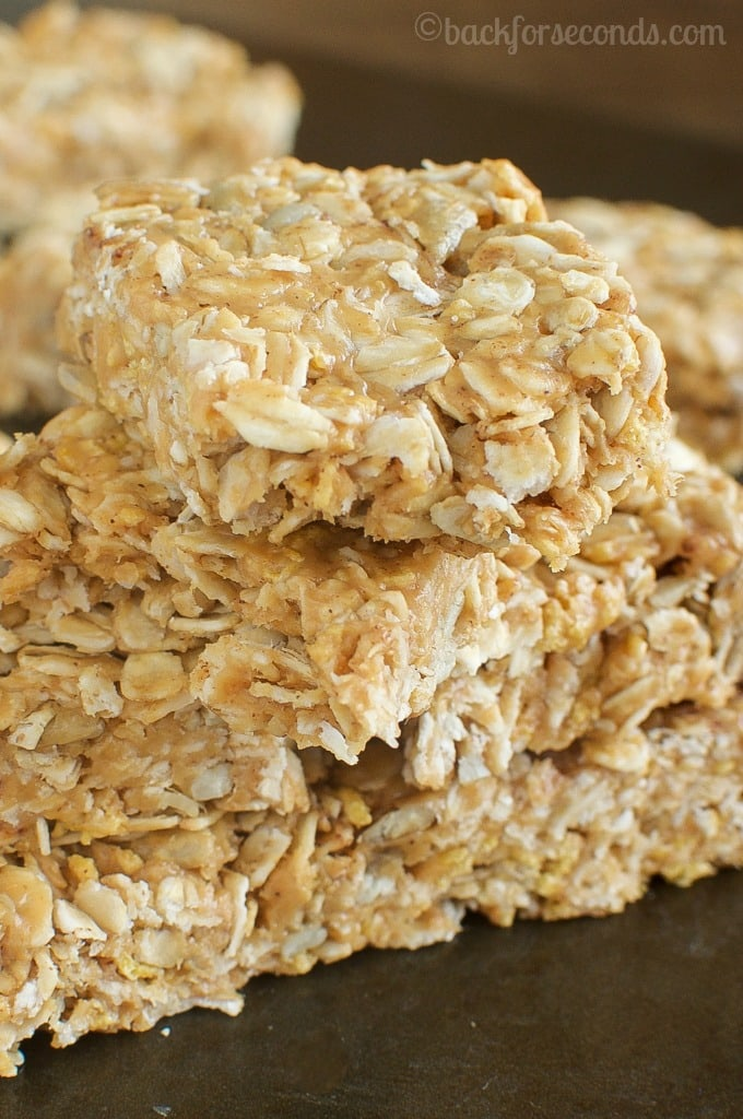 Best Easy, No Bake, Chewy Honey Peanut Butter Granola Bars-3