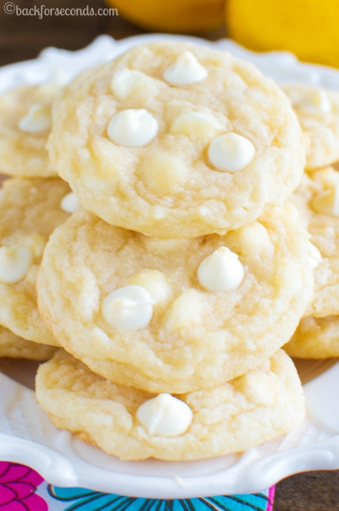 Chewy Lemon Cookies - no cake mix, no pudding mix. Completely from scratch and ridiculously delicious!